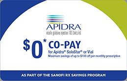 Copay and Savings Offers |Apidra® (insulin glulisine